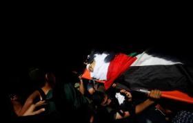 تشييع جثماني شهيدي غزة