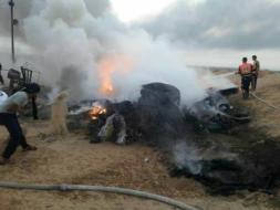 طائرات الاحتلال تحرق إطارات الكوشوك والخيم بمخيم العودة شرق رفح