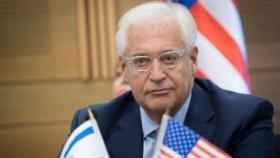 """فريدمان: أنفقنا 10 مليار دولار على الفلسطينيين """"بلا فائدة"""""""