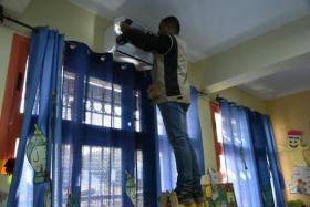 تركيب أجهزة التكييف في جميع المدارس الحكومية برام الله