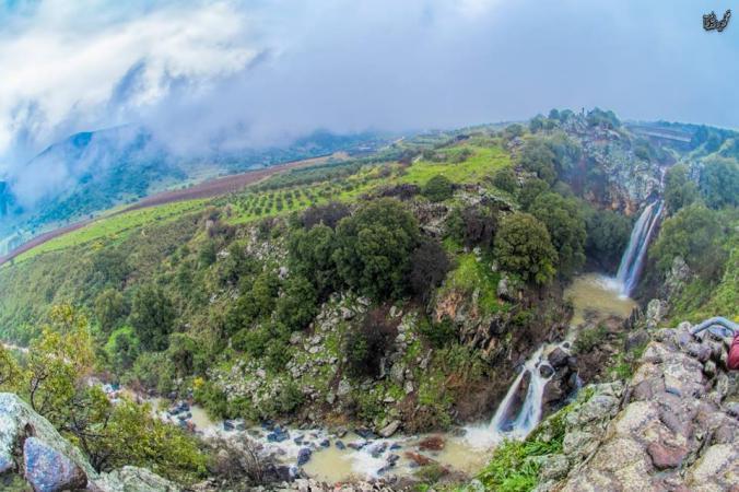 """صورة جمالية لـ """"بانياس"""" المحتلة شمال فلسطين"""