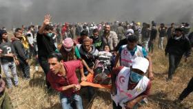 إصابات باعتداء جيش الاحتلال على المتظاهرين شرق قطاع غزة