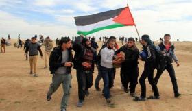 """إصابات برصاص قوات الاحتلال في جمعة """"الجولان عربية سورية"""" شرق غزة"""