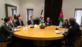 العاهل الأردني وكوشنر يبحثان آخر المستجدات الإقليمية
