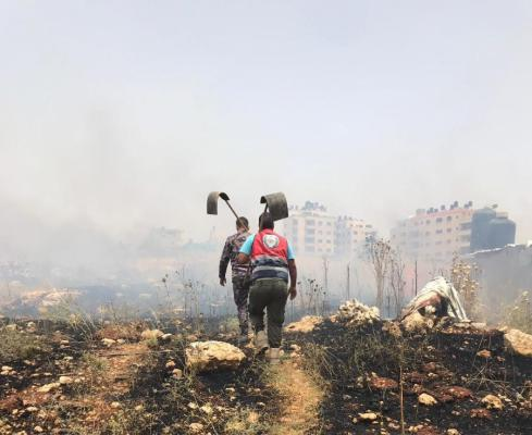 9 5454 - 302 حريق في الضفة خلال الـ24 ساعة الماضية أتت على مئات الدونمات والأشجار (صور)