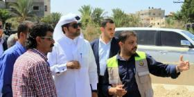 وفد طبي قطري ونائب السفير العمادي يصلان قطاع غزة