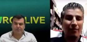 دماء على الهواء مباشرة.. شاهدوا كيف أُطلق النار على لاجئ سوري أثناء مقابلة تلفزيونية (فيديو)