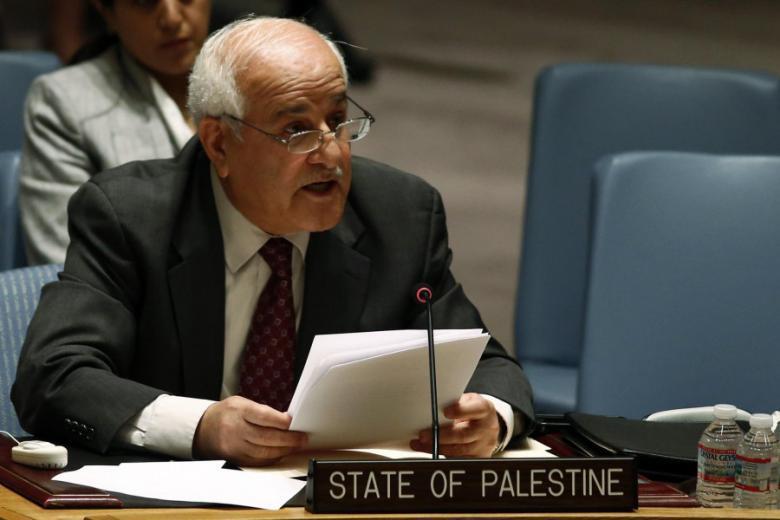 المندوب المراقب لدولة فلسطين في الأمم المتحدة السفير رياض منصور
