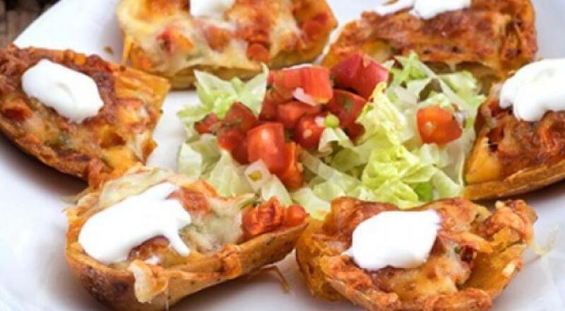 البطاطس المشوية من المطبخ المكسيكي