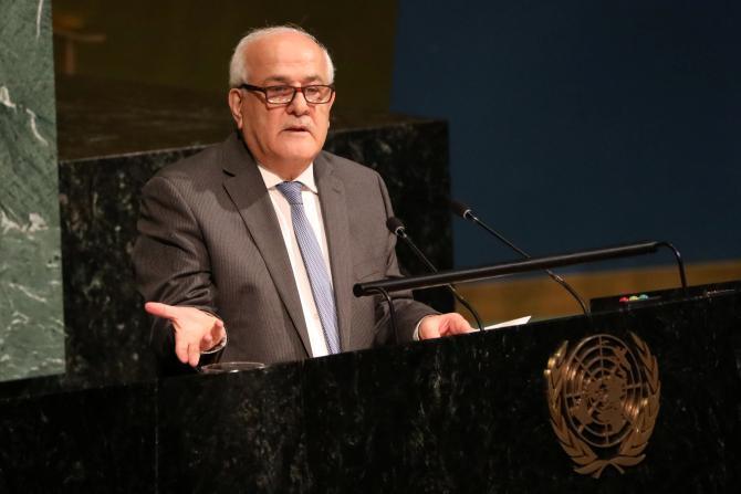 منصور: مشاورات لعقد مؤتمر دولي للسلام مطلع العام المقبل