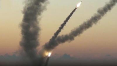 شاهد الآن: إطلاق صواريخ من القطاع تجاه مستوطنات غلاف غزة والقبة الحديدية تعترض أحدهما
