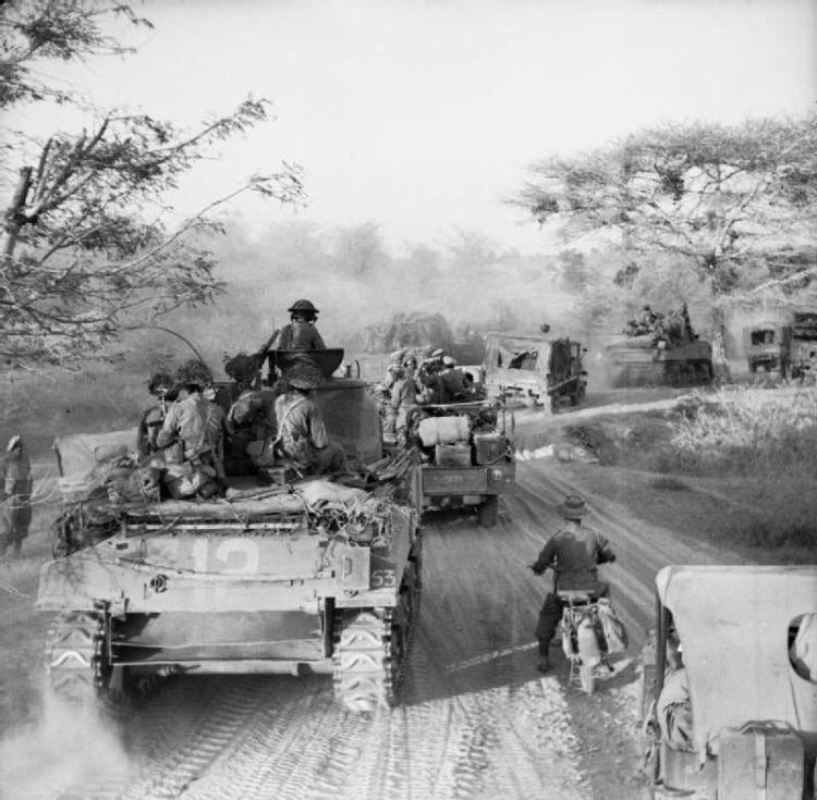 جانب من قوات الحلفاء ببورما عام 1945