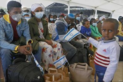 """وصول 330 مهاجر يهودي من إثيوبيا إلى """"إسرائيل"""""""