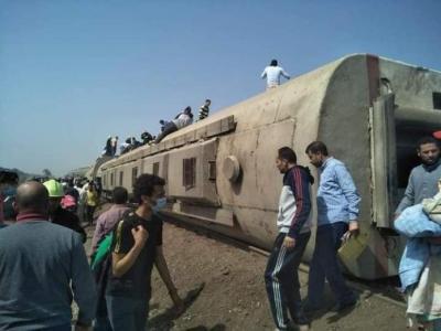الصحة المصرية: 97 مصابا بعد خروج قطار عن القضبان بالقليوبية شمالي القاهرة