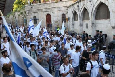 """إسرائيل تقرر إلغاء """"مسيرة الأعلام"""" في مدينة القدس"""