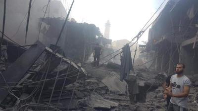شهيد وعدد من الإصابات بانفجار في بناية بسوق الزاوية وسط مدينة غزة