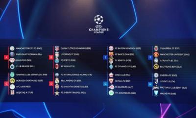 رسمياً.. نتائج قرعة المجموعات في دوري أبطال أوروبا