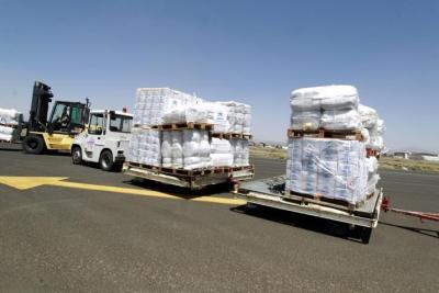 اليمن.. توزيع مساعدات إيوائية لـ 309 أسر نازحة في همدان