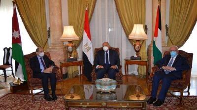 اجتماع ثلاثي لوزراء خارجية مصر والأردن وفلسطين