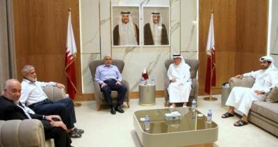 تفاصيل لقاء السفير القطري مع قيادة حماس في غزة برئاسة السنوار