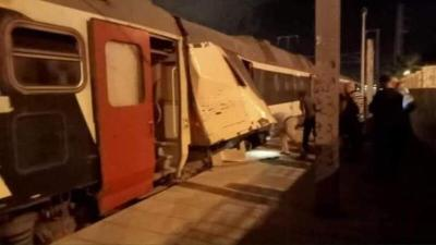 شاهد صور وفيديو من حادث اصطدام قطارين في تونس