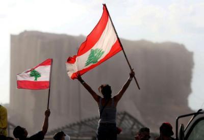 شاهد.. اشتباكات قرب تجمع احتجاجي في بيروت