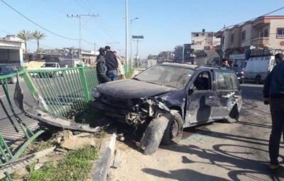 حالة وفاة و5 إصابات في 8 حوادث سير في قطاع غزة