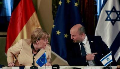 """ميركل لبينيت: توجد بين برلين وتل أبيب خلافات بـ """"الشأن الفلسطيني"""""""