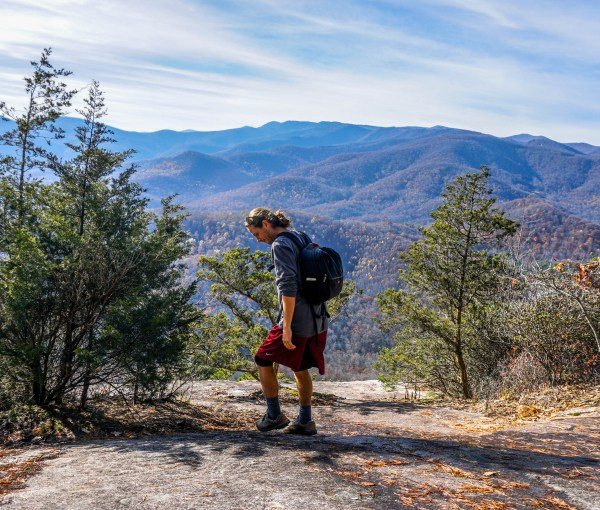 Hiking Looking Glass Rock