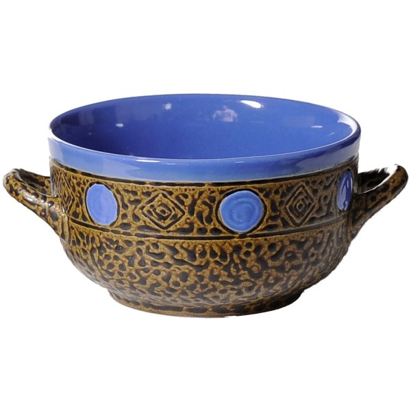 Pottery Soup Bowls with Handles