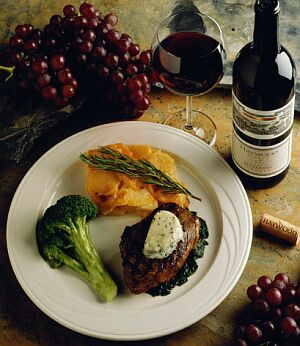 beef and wine