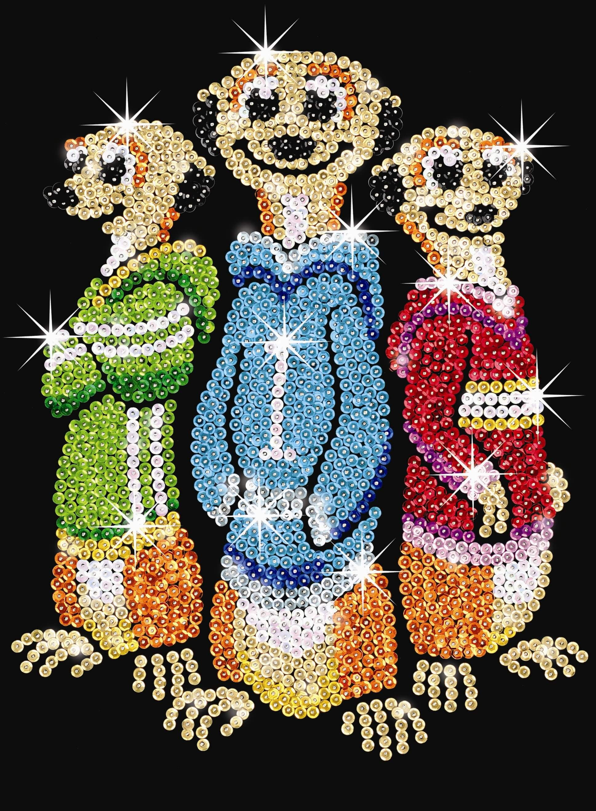 Sequin Art Red Meerkats SJ1008  Hobbies