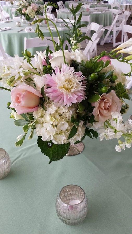freesia and garden roses