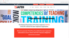 NAFDI website designed by alwaysinspired