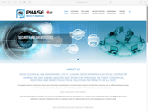 phase electrical website designed by alwaysinspired