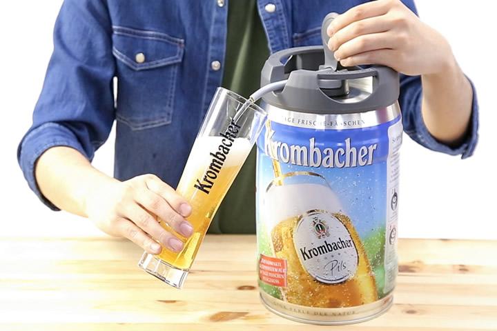 電源も機材も不要! 家庭用「クロンバッハー」5L樽生ビールが新発売
