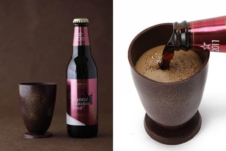 サンクトガーレン「インペリアルチョコレートスタウト」とチョコグラス