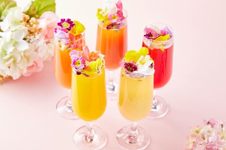 フォトジェニックなビアカクテル5種が飲み放題! 3月15日から「花ビールフェア」