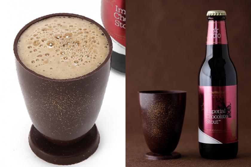 """サンクトガーレン、「インペリアルチョコレートスタウト」と""""食べられるチョコグラス""""のセットを発売"""