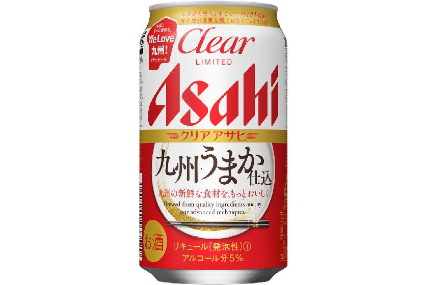アサヒビール、「クリアアサヒ 九州うまか仕込」を九州7県限定でリニューアル発売 売上の一部は復興支援に
