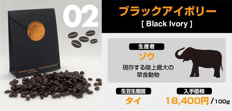 世界で最も高価なコーヒー、象の糞から採った「ブラックアイボリー」