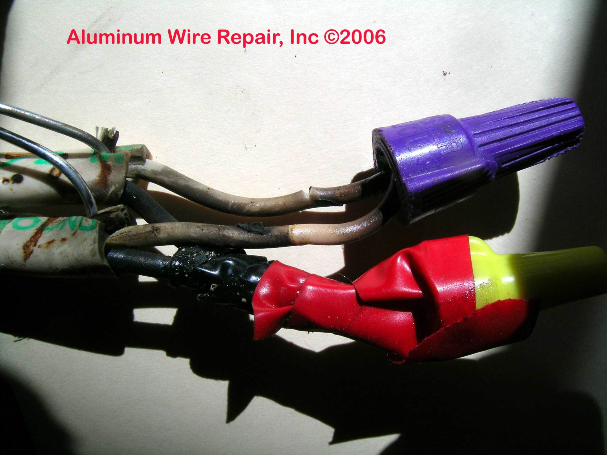 hight resolution of burned splices burned splices
