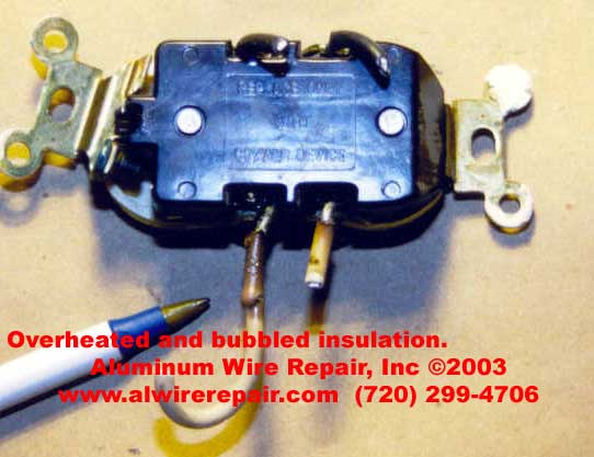 110v Receptacle Wiring Examples Of Burnt Wire Nuts Aluminum Wire Repair Inc