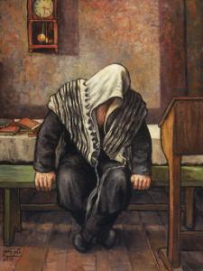 """חסיד של אדמו""""ר הזקן - ציור של חסיד מתפלל"""
