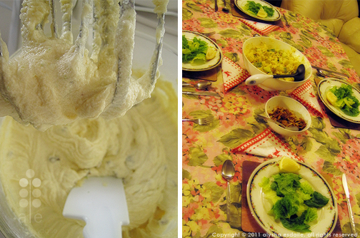 Baking & Coronation Chicken Salad and our pretty table!