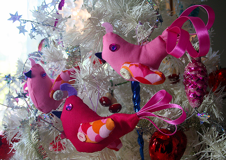 Pink Christmas Patridge