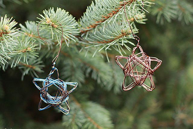 Handmade Star Wire Ornament Alyssa And Carla
