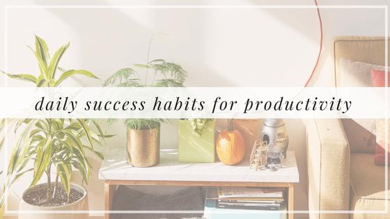 Daily Success Habits for Productivity, Alyssa Coleman, wellness, productivity, creative entrepreneur