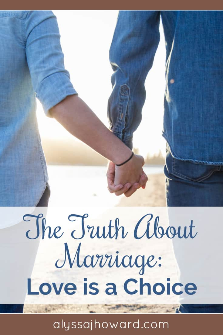 Is it possible to fall out of love with your spouse? Is it okay to divorce when you are no longer in love? In marriage, love is a choice - not a feeling. Every day we must choose our spouse all over again.