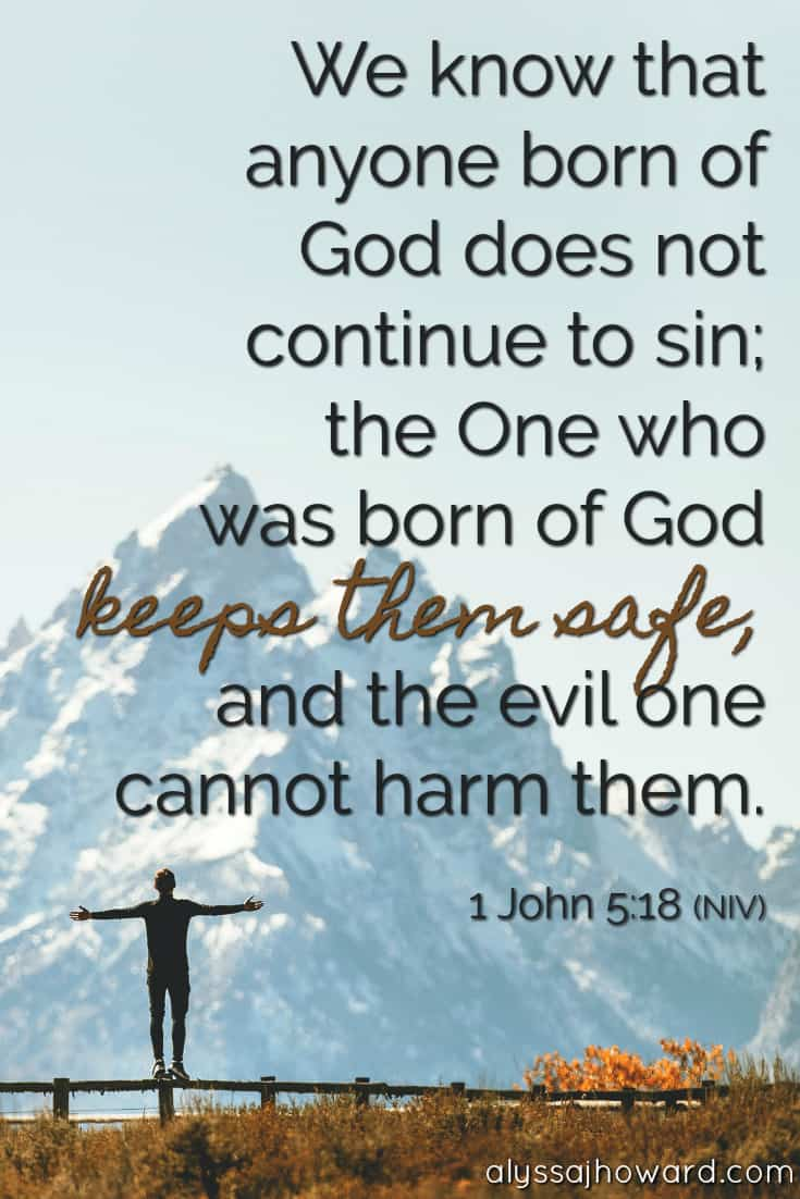 We know that anyone born of God does not continue to sin; the One who was born of God keeps them safe, and the evil one cannot harm them. - 1 John 5:18